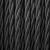 Zwart gevlochten kabel