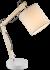 Bureaulamp hout stoffen kap modern verstelbaar