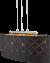 Hanglamp glas goud e27 fitting zwart goud