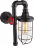 Industriele wandlamp zwart e27 fitting glas