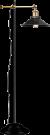 Vloerlamp industrieel 'Lenius' zwart E27 fitting 155cm op FOIR.nl