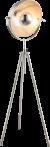 Staande lamp nikkel E27 fitting 176cm