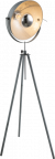 Driepoot staande lamp grijs e27 fitting