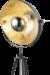 Driepoot vloerlamp staand grijs goud