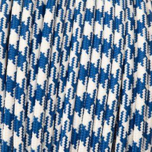 Strijkijzersnoer blauw en wit