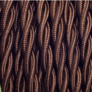Gedraaid bruin strijkijzersnoer