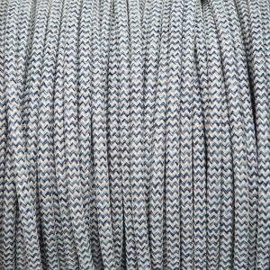 Denim & linnen rond gevlochten strijkijzersnoer