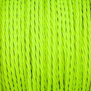 Fluor fel groen strijkijzersnoer gevlochten