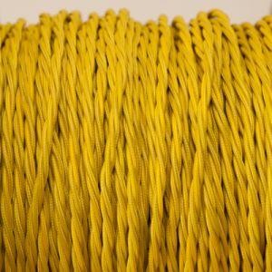 Geel gevlochten strijkijzersnoer