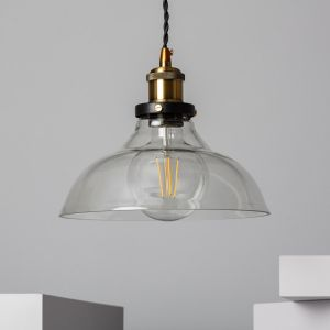Hanglamp industrieel glas e27 fitting