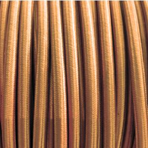 Oud goud gevlochten ronde strijkijzerkabel