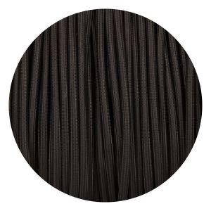 Zwart rond strijkijzersnoer zwart stof draad modern