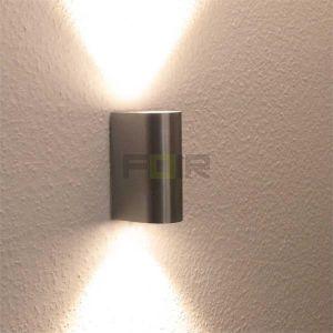 Aluminium Wandlamp 5w 2x Binnen, Buiten, badkamer