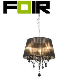 Hanglamp zwart rond 'Lani' E14 fitting 450mm