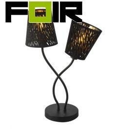 Tafellamp goud zwart 'Tuxon' E14 fitting 450mm