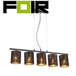 Hanglamp 'Tuxon' vloerlamp 5 kappen E14 90cm