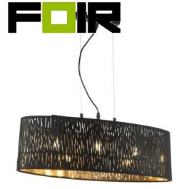 Hanglamp zwart goud 'Tuxon' E14 fitting 65cm