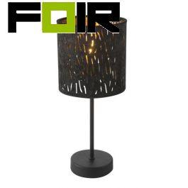 Tafellamp goud zwart 'Tuxon' E14 fitting 350mm