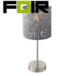 Tafellamp zilveren kap 'Tarok' 15265T
