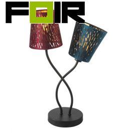 Tafellamp fluweel stoffen kap 'Ticon' E14 fitting 280mm