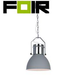 Hanglamp chrome grijs 'Kutum' E27 fitting industrieel 270mm