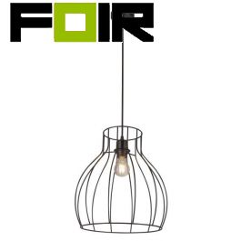 Hanglamp kooilamp zwart 'Mina' zwart metaal E27 fitting modern 350mm
