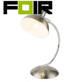 Tafellamp nikkel 'Tish' e14 fitting met schakelaar 390mm
