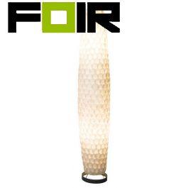 Staande lamp witte schelpen 'Bali' E27 fitting 156cm