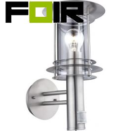 Buitenlamp zilver glas 'Miami' E27 fitting 360mm
