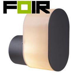 Buitenlamp wandlamp 'Salli' zwart E27 fitting IP44