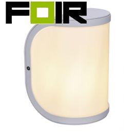 Wandlamp voordeur wit 'Segga' E27 fitting IP44 200mm
