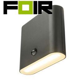 Buitenlamp met bewegingsmelder 'Agam' grijs led  210mm