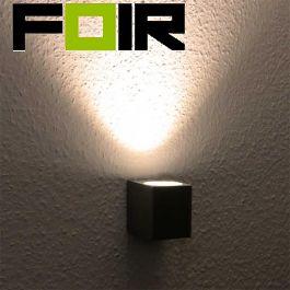 Led wandlamp buiten 'Toronto' buitenlamp 3W LED GU10