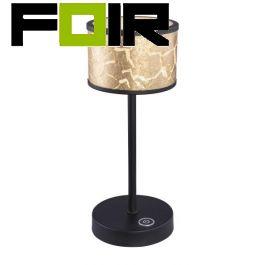 Tafellamp goud zwart 'Meta' led lamp 300mm