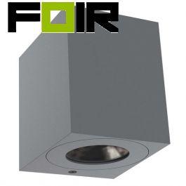 Nordlux 'Canto kubi 2' LED-wandlamp 2x6W warmwit grijs buitenlicht 49711010