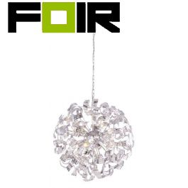 Hanglamp chrome 'Falla' met 8x E14 fitting 700mm