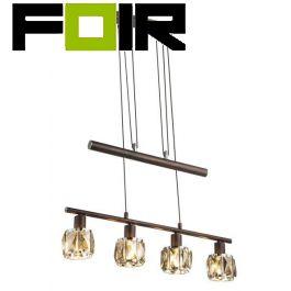 Hanglamp verstelbaar 'Indiana' brons 4x E14 fitting 600mm