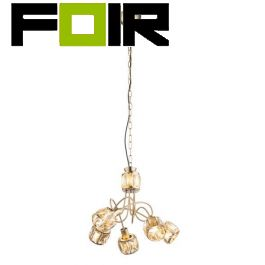 Hanglamp messing goud 'Mero' e14 fitting