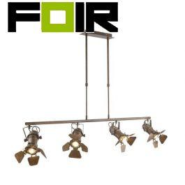 Hanglamp 4 spots 'Egon' tafellamp eettafel verlichting Gu10