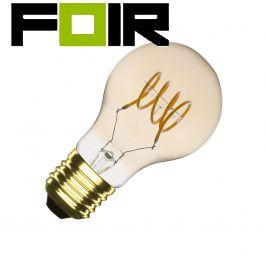 A60 E27 4W Classic Spiral gouden gloeidraad LED lamp (dimbaar)