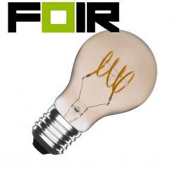 A60 led lamp warm wit E27 fitting 4W Smokey
