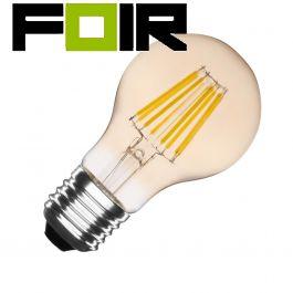 A60 E27 6W classic goud / gold LED lamp (dimbaar)