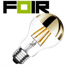 A60 E27 6W gouden reflecterende filament LED lamp (dimbaar)