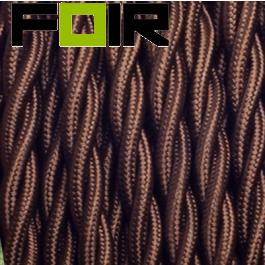Strijkijzersnoer Bruin gevlochten