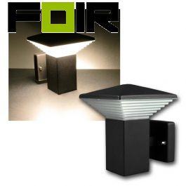 Buitenlamp antraciet zwart wandlamp led 720lm 11W