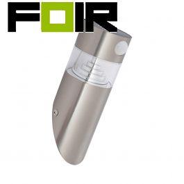 Inti solar LED lamp PIR bewegingsmelder zilver