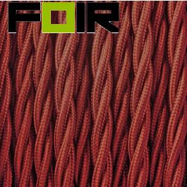 Strijkijzersnoer Bourgondië Rood gevlochten