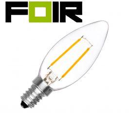 C35 E14 2W LED klassieke lamp