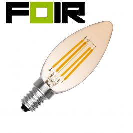 C35 E14 3.5W klassiek gouden LED lamp (dimbaar)