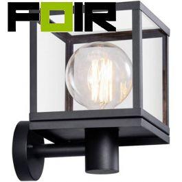 Buitenlamp 'Dalton' Nordlux E27 fitting glas zwart staal
